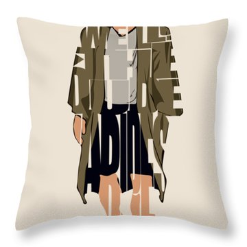 The Big Lebowski Inspired The Dude Typography Artwork Throw Pillow