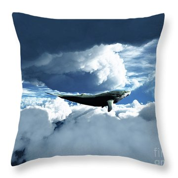 The Big Move Throw Pillow by Eric Nagel