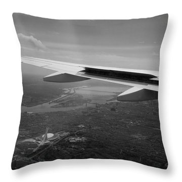 The Big O From On High Throw Pillow by Lisa Knechtel