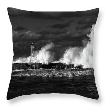 Throw Pillow featuring the photograph The Big One by Nareeta Martin