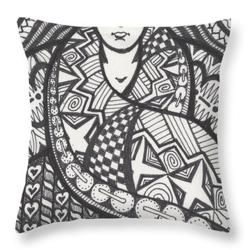 The Big Overcoat Throw Pillow by Amy S Turner