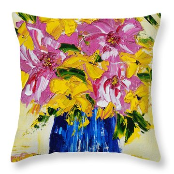 The Big Pinks Throw Pillow