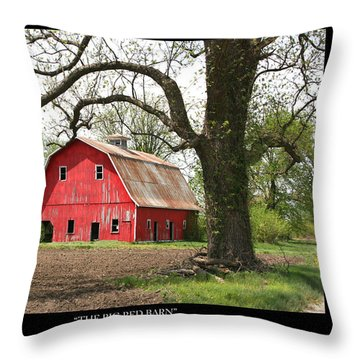 The Big Red Barn W Poem Throw Pillow