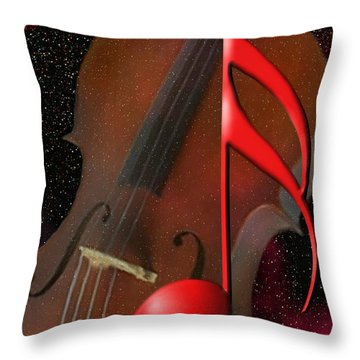 The Big Red Note Throw Pillow