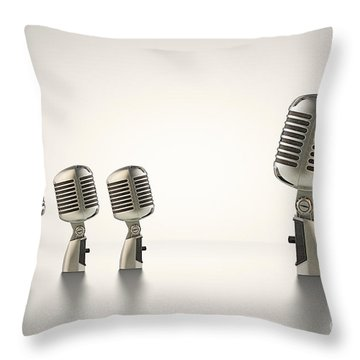 The Big Talk Throw Pillow