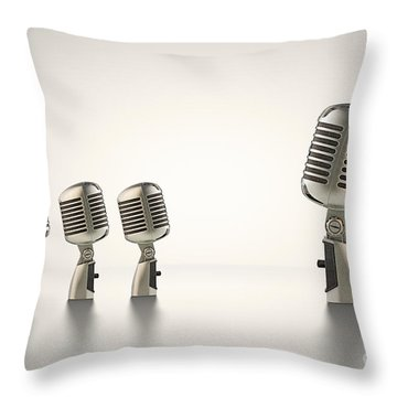 Mic Throw Pillows