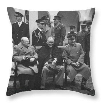 The Big Three -- Ww2 Leaders Throw Pillow