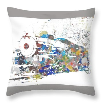 The Big Train Throw Pillow