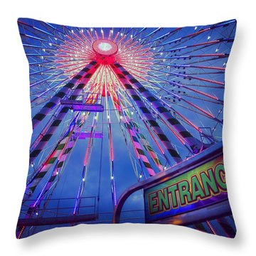 Throw Pillow featuring the photograph The Big Wheel by Heidi Hermes
