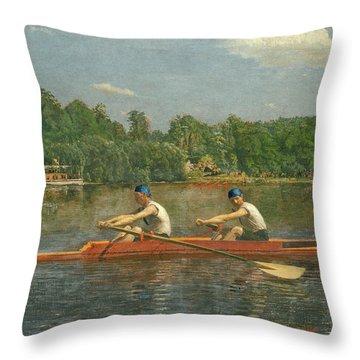 The Biglin Brothers Racing Throw Pillow