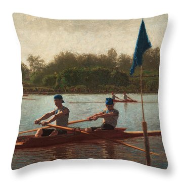 The Biglin Brothers Turning The Stake Throw Pillow