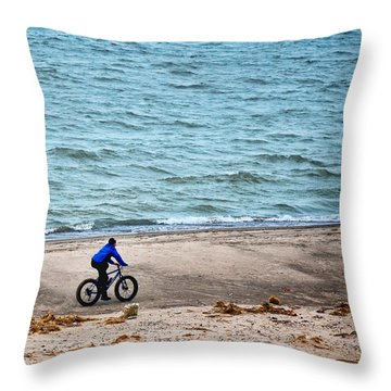 The Bike Ride Throw Pillow