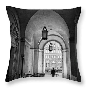 Federal Triangle Throw Pillows