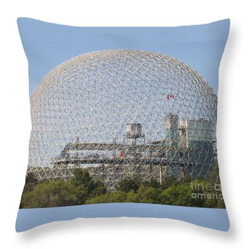 The Biosphere  Ile Sainte-helene Montreal Quebec Throw Pillow