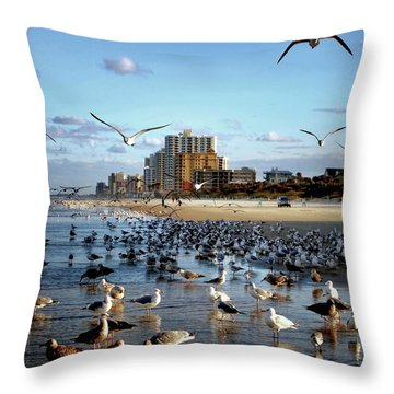 Throw Pillow featuring the photograph The Birds by Jim Hill
