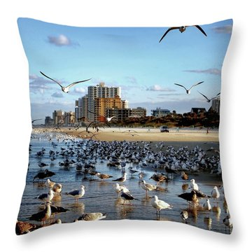 The Birds Throw Pillow by Jim Hill