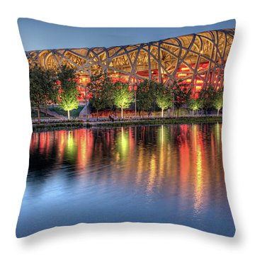 The Bird's Nest Throw Pillow