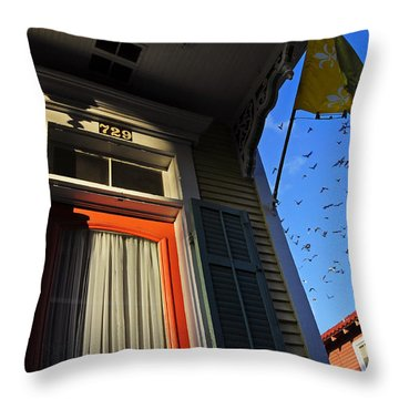 The Birds Throw Pillow by Skip Hunt