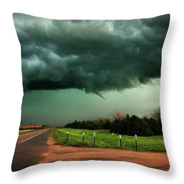 The Birth Of A Funnel Cloud Throw Pillow