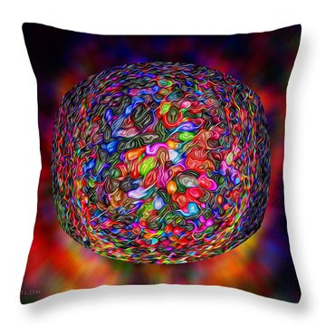 The Birth Of Color Throw Pillow