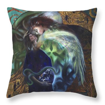 Throw Pillow featuring the painting The Birth Of The World by Ragen Mendenhall