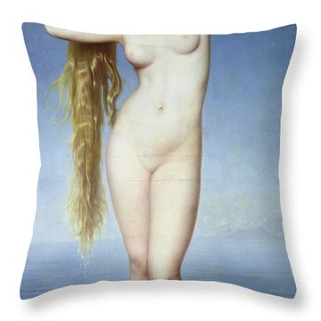 The Birth Of Venus Throw Pillow by Eugene Emmanuel Amaury Duval