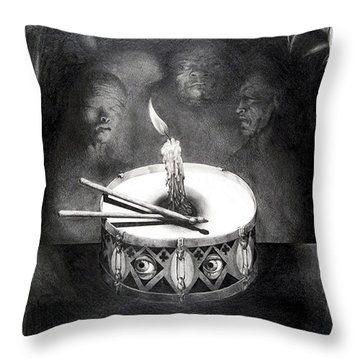 The Birthday Party Throw Pillow by Otto Rapp