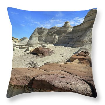 Throw Pillow featuring the photograph The Bisti Badlands - New Mexico - Landscape by Jason Politte
