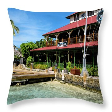 Throw Pillow featuring the photograph The Bitter End Yacht Club by Adam Romanowicz