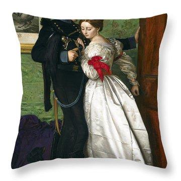 The Black Brunswicker Throw Pillow by Sir John Everett Millais