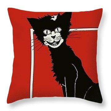 The Black Cat Rag 1905 Sheet Music Art Throw Pillow