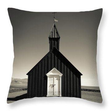 Throw Pillow featuring the photograph The Black Church by Edward Fielding