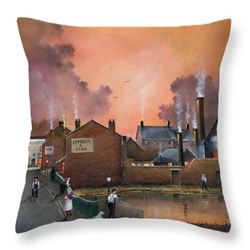 The Black Country Village Throw Pillow