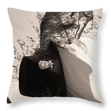 The Black Hats Throw Pillow by Tommy Anderson
