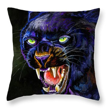 The Black Panther Throw Pillow