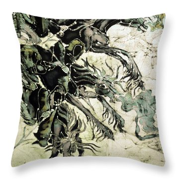 The Black Riders Descend Throw Pillow