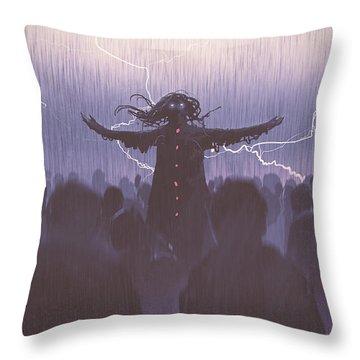 The Black Wizard Throw Pillow