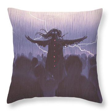 The Black Wizard Throw Pillow