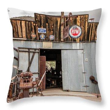 The Blacksmith Shop Throw Pillow