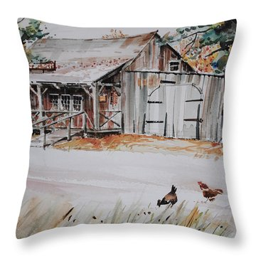 The Blacksmith Shoppe Throw Pillow