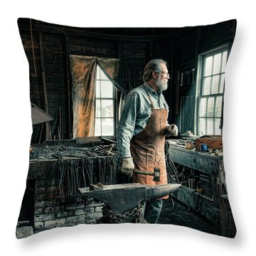 The Blacksmith - Smith Throw Pillow