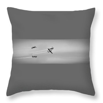 Throw Pillow featuring the photograph The Blades Aerial Gymnastics Sunderland Air Show 2014 by Scott Lyons