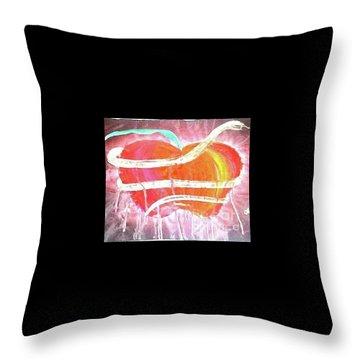 The Bleeding Heart Of The Illuminated Forbidden Fruit Throw Pillow