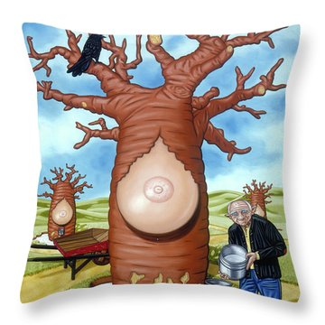 Throw Pillow featuring the painting The Blind Milkman by Paxton Mobley