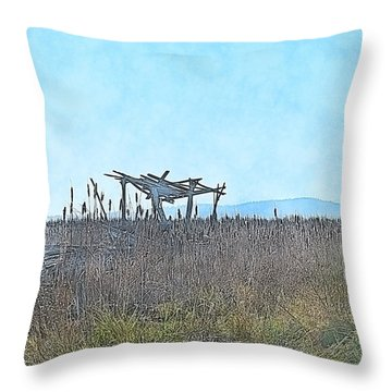 The Blind Throw Pillow
