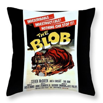 The Blob  Throw Pillow by Movie Poster Prints