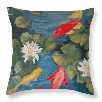 The Block Party Throw Pillow by Annie St Martin