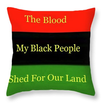 The Blood Throw Pillow