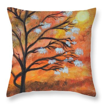 The Blossom Throw Pillow
