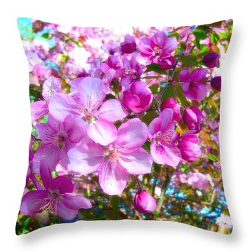 The Blossoms Of Spring Throw Pillow